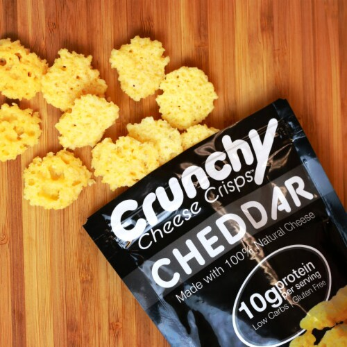 Cheddar Crunchy Cheese Crisps, Made with 100% All Natural Cheese, Keto Friendly, Gluten Free Perspective: bottom