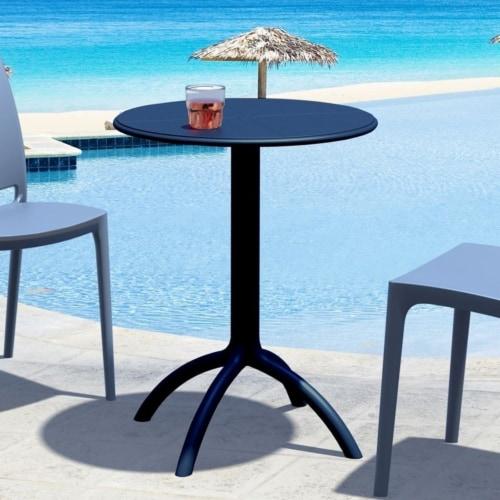 Atlin Designs Round Bistro Table in Black Perspective: bottom