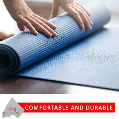 Vivitar Pfv8277 5mm High Density Foam Exercise Roll Up Mat For Yoga Perspective: bottom