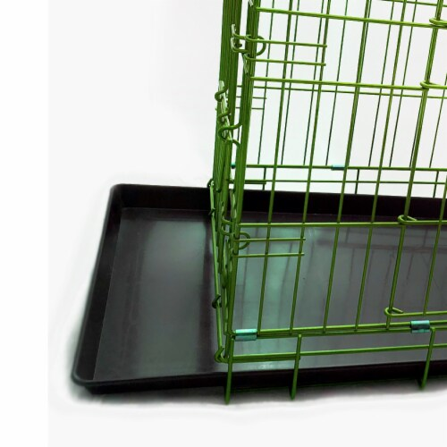 Backyard Expressions Double Door Wire Dog Kennel Pet Crate Perspective: bottom