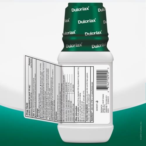 Dulcolax® Cherry Flavor Liquid Saline Laxative Perspective: bottom