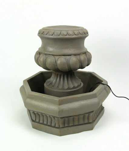Classic Olive Column Style Tabletop or Garden Fountain With Pump Perspective: bottom