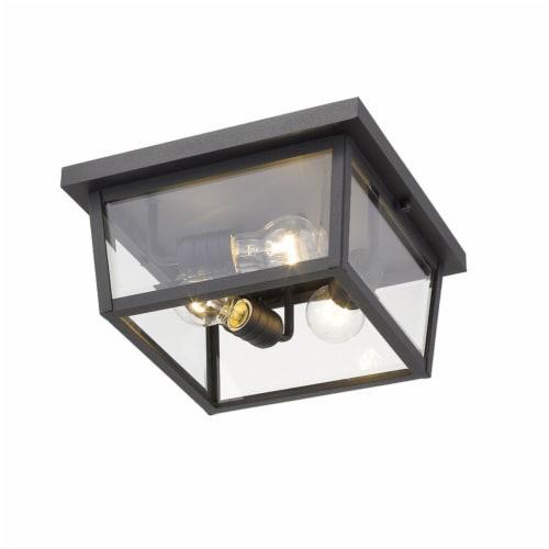 Z-Lite 568F-BK Beacon 6-Inch 3 Light 40W Dimmable Mount Ceiling Light, Black Perspective: bottom