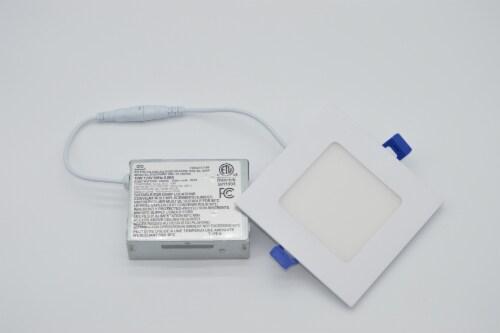 "LED RGB Square 4"" Bluetooth & WI-FI Control 10W 100-277VAC Perspective: bottom"