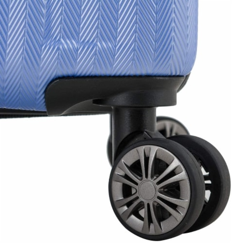 Traveler's Choice Dana Point Expandable Hard-Shell Luggage Set with USB Port - Blue Perspective: bottom