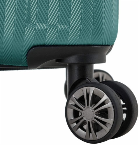 Traveler's Choice Dana Point Expandable Hard-Shell Luggage Set with USB Port - Spruce Perspective: bottom