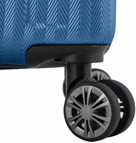 Traveler's Choice Dana Expandable Hard-Shell Luggage Set - Navy Perspective: bottom