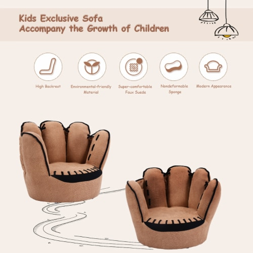 Costway Kids Sofa Five Finger Armrest Chair Couch Children Living Room Toddler Gift Perspective: bottom