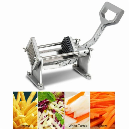 Costway Potato French Fry Fruit Vegetable Cutter Slicer Commercial Quality W 4 Blades Perspective: bottom