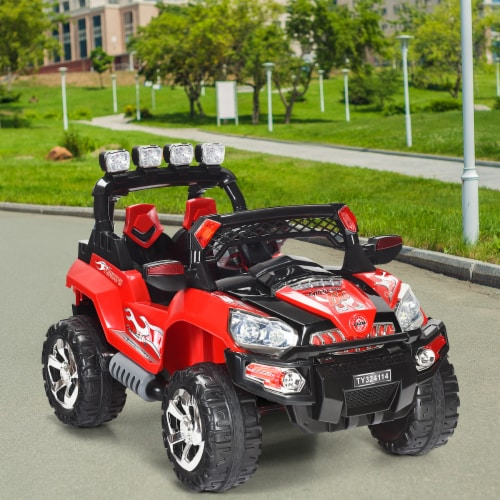Costway 12V Kids Ride On Truck Car SUV MP3 RC Remote Control w/ LED Lights Music Perspective: bottom