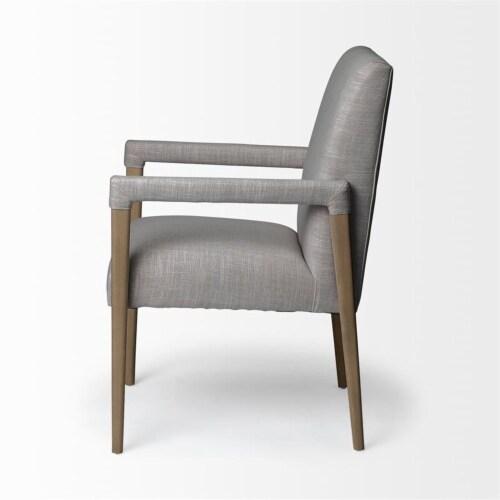 Mercana Palisades Fabric Flint Gray Chair Perspective: bottom