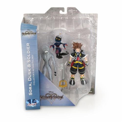 Kingdom Hearts 2 Action Figures Collection Set | Includes Sora, Dusk, & Soldier Perspective: bottom