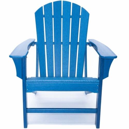 Hampton Navy Poly Outdoor Patio Adirondack Chair Perspective: bottom