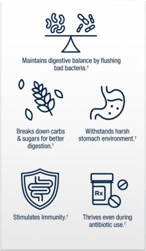 Florastor Pre Daily Probiotic & Fiber Supplement Capsules 250mg Perspective: bottom