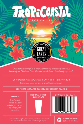 Great Lakes Breweing Co TropiCoastal Tropical IPA Perspective: bottom