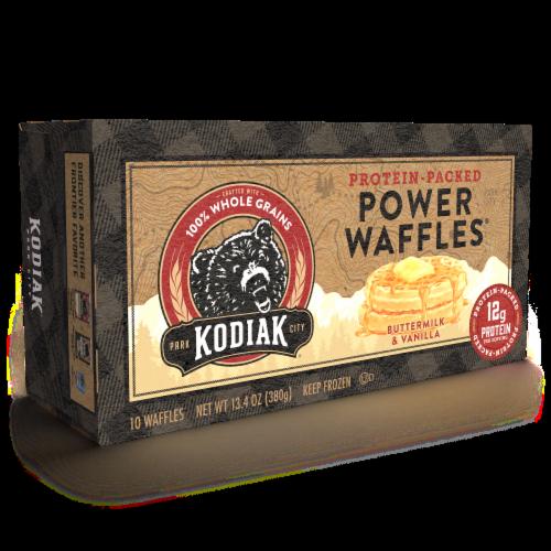 Kodiak Cakes Buttermilk and Vanilla Power Waffles Perspective: bottom