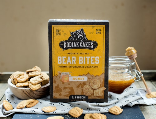 Kodiak Cakes Bear Bites Honey Graham Crackers Perspective: bottom