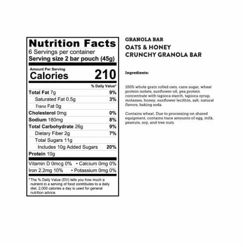 Kodiak Cakes Protein-Packed Oats and Honey Crunchy Granola Bars Perspective: bottom