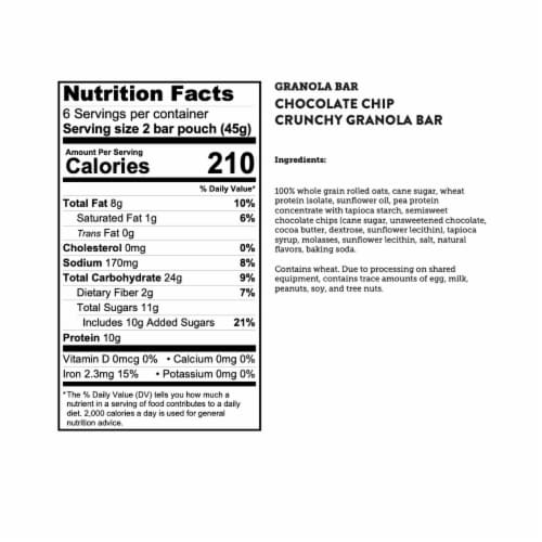 Kodiak Cakes Chocolate Chip Crunchy Granola Bars Perspective: bottom