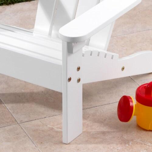 KidKraft Children's Adirondack Chair - White Perspective: bottom