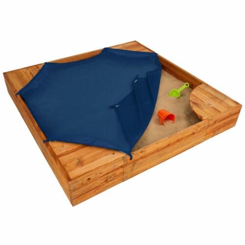 KidKraft Backyard Children's Sandbox - Honey Perspective: bottom