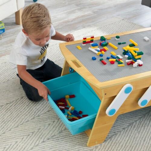 KidKraft Building Bricks Play N Store Table Perspective: bottom
