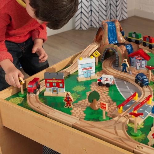 KidKraft Waterfall Mountain Train Set & Table Perspective: bottom