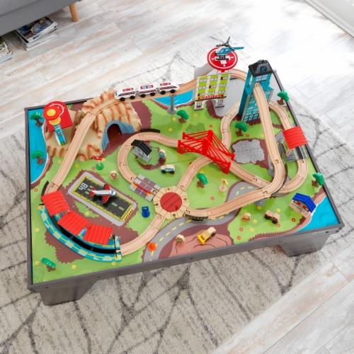 KidKraft Pacific Railway Train Set & Table Perspective: bottom