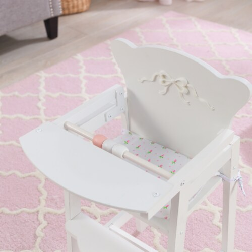 KidKraft Tiffany Bow Lil Doll High Chair Perspective: bottom