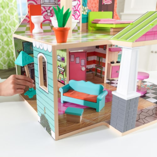 KidKraft Pacific Bungalow Dollhouse Perspective: bottom
