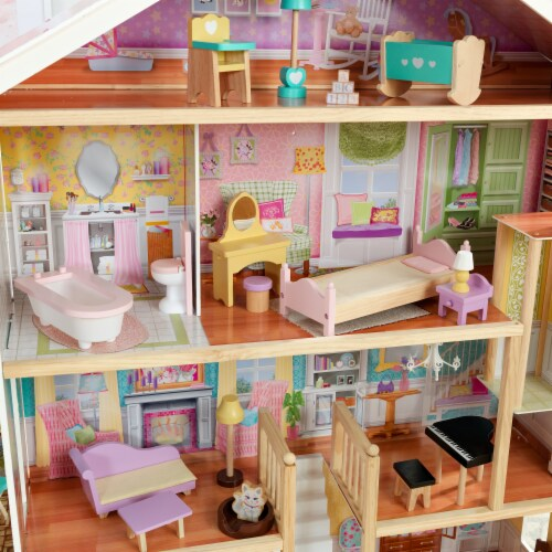 KidKraft Grand View Mansion Dollhouse with EZ Kraft Assembly™ Perspective: bottom