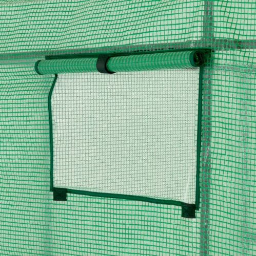 Ogrow OGRC6868-PE 2 Tier 8 Shelf Greenhouse PE Replacement Panel Cover to Fit Frame, 77 x 56 Perspective: bottom