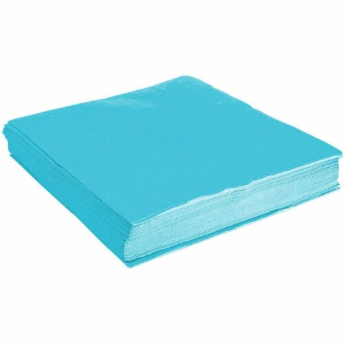 Turquoise Party Supplies, Paper Plates, Cups, and Napkins (Serves 24, 72 Pieces) Perspective: bottom