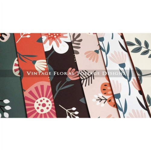 Decorative File Folders with Floral Designs, Letter Size (9.5 x 11.5 In, 12 Pack) Perspective: bottom