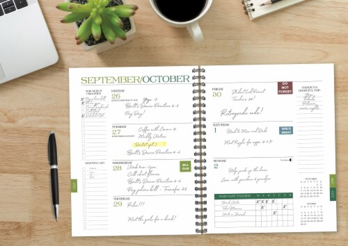 Leopard Print 2022 8.5  x 11  Softcover Weekly Large Planner Perspective: bottom
