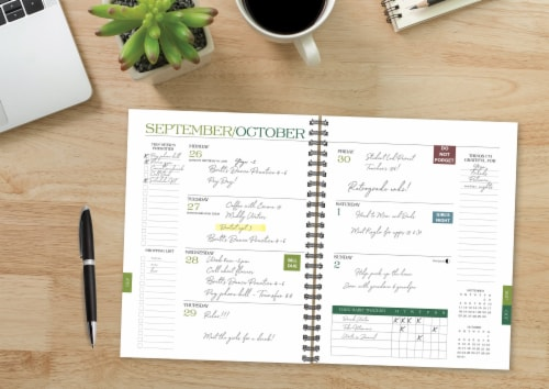 Plum Year 2022 6.5  x 8.5  Softcover Weekly Planner Perspective: bottom