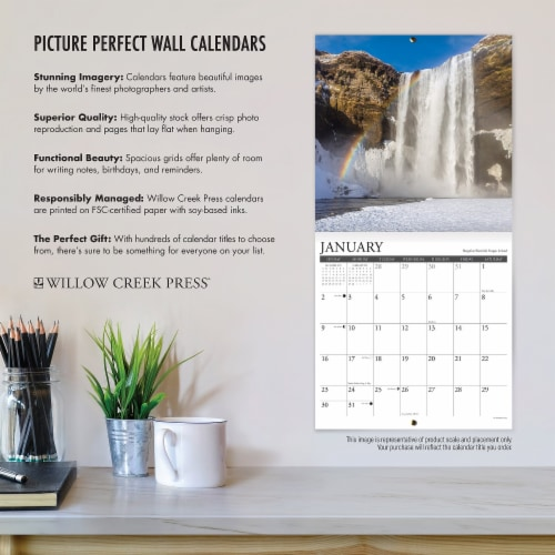 Big Day 2022 Large Print and Grid Wall Calendar Perspective: bottom