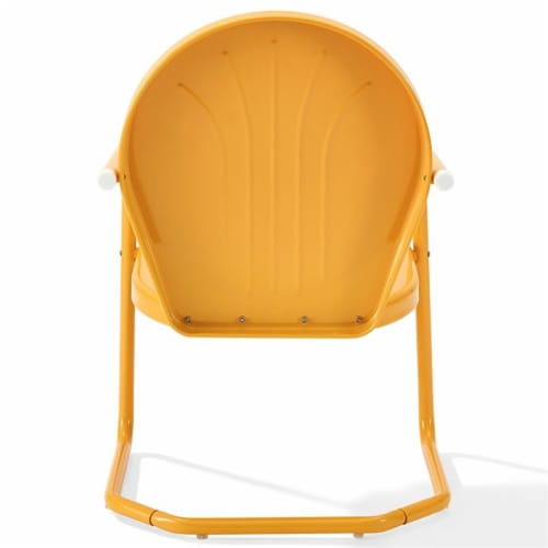 Furniture Griffith Sturdy Steel Metal Patio Chair in Orange-Crosley Perspective: bottom