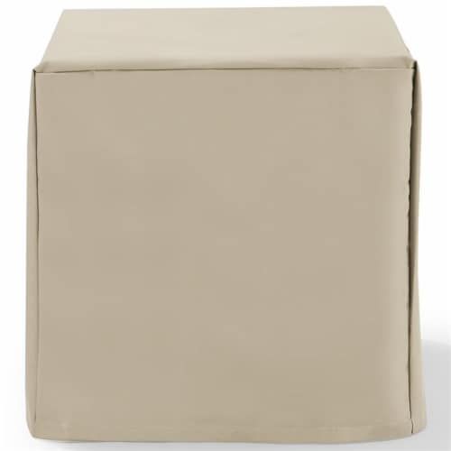 Crosley Patio End Table Cover in Tan Perspective: bottom