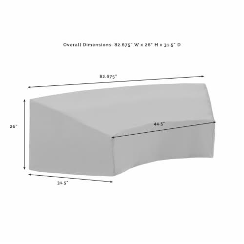 Crosley Catalina Patio Sectional Cover in Tan Perspective: bottom