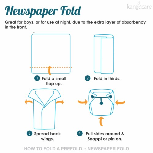 Kanga Care Bamboo Prefold Cloth Diapers (6pk) - Size 1 : Newborn Perspective: bottom