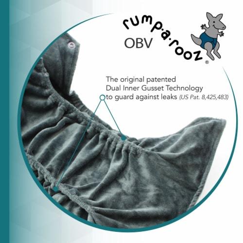 Kanga Care Rumparooz OBV One Size Pocket Cloth Diaper | Clover (6-40lbs) Perspective: bottom