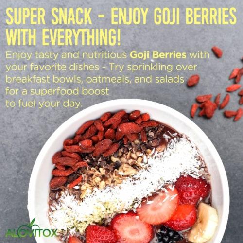 Certified Organic Goji Berries 16 oz | Raw, Vegan, Gluten Free Super Snack Perspective: bottom