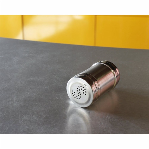 Stainless Steel Salt and Pepper Shakers for Kitchen - 3.5 Inch Perspective: bottom