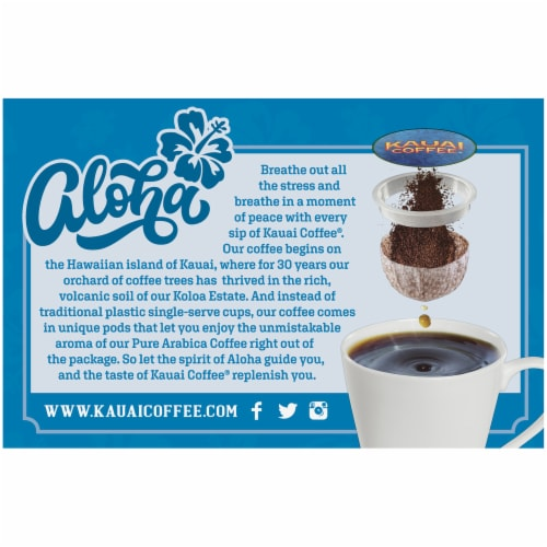 Kauai Coffee Flavored Variety Pack, 36 Single Serve Pods Total Perspective: bottom