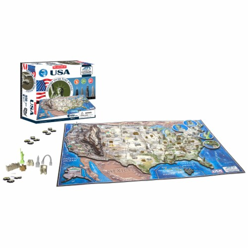 4D Cityscape USA History Over Time Puzzle Perspective: bottom