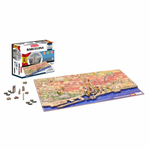 4D Cityscape Barcelona Spain Time Puzzle Perspective: bottom