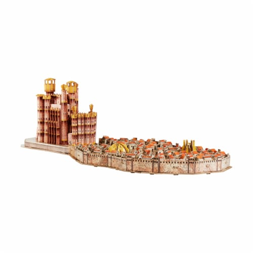 4D Cityscape Game of Thrones: Kings Landing Puzzle Perspective: bottom