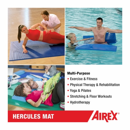 Airex Hercules Closed Cell Foam Fitness Mat for Yoga, Pilates, & Gym Use, Blue Perspective: bottom