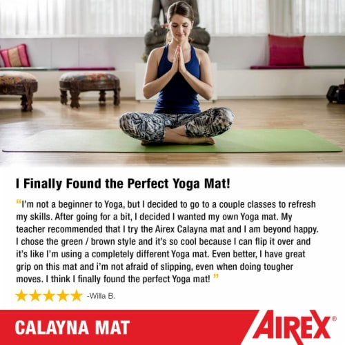 Airex Calyana Prime Closed Cell Foam Fitness Mat for Yoga and Pilates, Purple Perspective: bottom